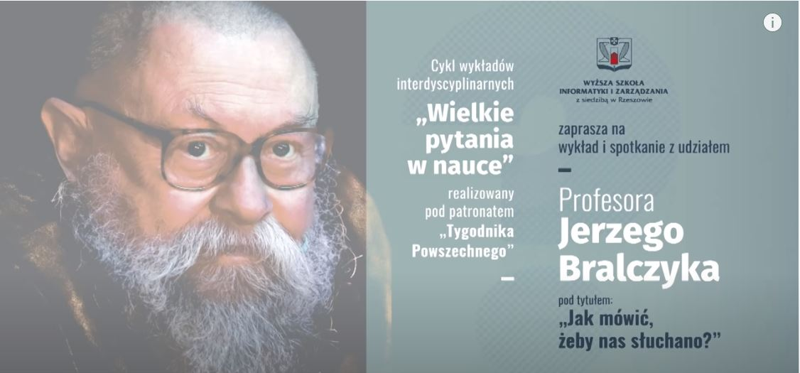 Wykład prof. Jerzego Bralczyka – Jak mówić, żeby nas słuchano?